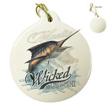 Wicked Fish Marlin - Christmas Xmas Tree Porcelain Ornaments