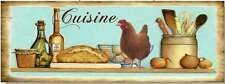 Tin Sign – French Country Vintage Inspired Cuisine Chook