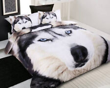 Quilt Duvet | Doona Quilt Cover Set | Dog | Blue Eyes | Husky Wolf