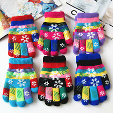 Kids Magic Colorful Gloves Stretch Knit Winter Warm Soft for Unisex Boys Girls