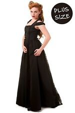 Banned Maxi Gothic Steampunk Corset Style corset PLUS SIZE Black Dress 18 20 22