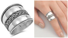 Sterling Silver 925 LADIES MENS HANDMADE BALI DESIGN SILVER RING SIZES 5-12