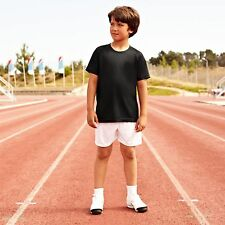 Fruit of the Loom Kids Performance tee shirt - black - szs 5-13 yrs - NEW- £3.95