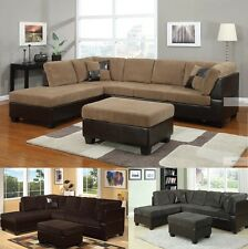 Modern Contemporary Living room furniture sectional sofa couch in 3 colors @Acme