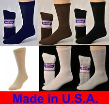 3, 6 or 12 Pair Men's - Ladies Physicians Choice Crew Cushioned Diabetic Socks