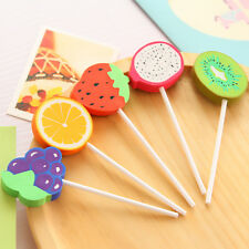 Novelty Fruit Lollipop Lolly Food Erasers Rubbers Gift Toy Kids Party Bag Gift