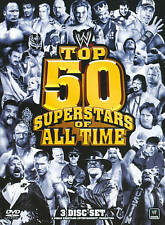 WWE: The Top 50 Superstars of All Time (DVD 3-Disc Set) New Tear In Shrink Wrap