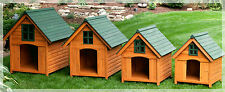 Heated Dog House Weather Resistant Wood Large Outdoor Pet Shelter Cage Kennel