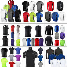 Men's Athletic Apparel Compression Under Base Layer Top Tight Skin Workout Shirt