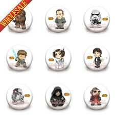 Star war Buttons pins badges,30MM,Round Brooch Badges Kids Decoration Favor Gift