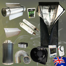 "Hydroponic 600w HPS MH Lamp Air Cooled Tube Reflector Grow Tent 6"" Carbon Filter"