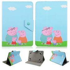 "New Peppa Pig Kids Cartoon PU Leather Cover case F Universal 7"" 8"" 10"" Tablet PC"