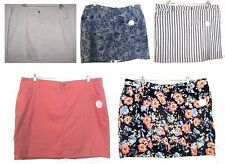 Plus Sizes 18-24W - NWT$40 Croft & Barrow Plus Size Denim Jean Skorts Skirts