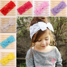 Baby Kids Toddler Lace Bowknot Headband Hair Band Children Headwear Accessories