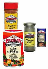 Louisiana Fish Fry Cajun:Cajun Seasoning,Gumbo File`,Blackening,Cayenne