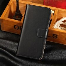 For HTC ONE M8 Luxury Genuine Real Leather Case Card Holder Stand Wallet Cover
