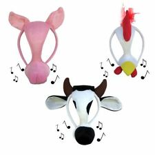 New Farm Animal Cow Pig Chicken Costume Mask Kids Adults Book Week Makes Sounds