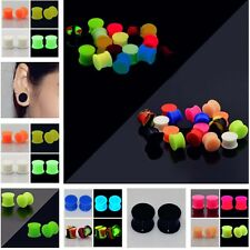 2PCS Silicone Ear Tunnel Stretcher Glow In The Dark Ear Expander Piercing Punk