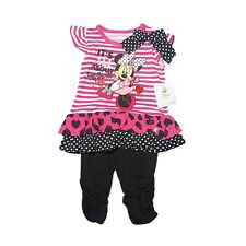 New Disney Minnie Mouse Infant Girls 2 Piece Outfit 12-24 month Leggings and Top