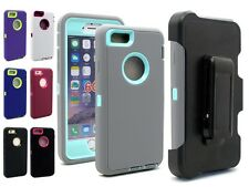 New Hybrid Heavy Duty Rugged Case Silicone Cover for Apple iPhone 6 SP Built-in