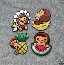 APE BABY MILO FRUIT Embroidered Iron On Badge Applique Patch