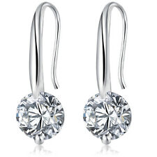 Chic Women Silver Plated Ear Hook Crystal Rhinestone Zircon Dangle Earring Hot
