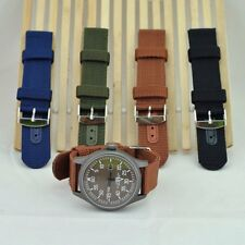 4 Colors Military Army Nylon Fabric Canva Wrist Watch Band Strap 18/20/22/24mm
