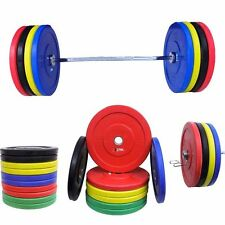 Bumper Plates Olympics 2 Inch Black Colour Rubber Weight Plates Gym MMA Exercise