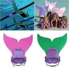 Adjustable Kids Swimming Diving Mermaid Tail Training Flippers Swimmable