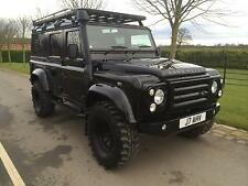 Black Land Rover 110 Defender 2.4TDi Utility XS. Fully kitted out