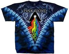 OFFICIAL LICENSED - PINK FLOYD - PRISM RIVER TIE DYE T SHIRT ROCK DSOTM GILMOUR