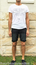 Mossimo Men's Slim Denim Short Washed Black BNWT 50% Off