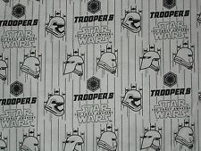 Star Wars Storm Trooper Helmets, White Quilting Fabric, Fat Quarter, By the Yard