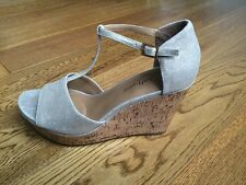 NEW Clarks Ladies WIDE FIT Leather Wedge SOFTWEAR Sandals Shoes UK 5.5, 6.5, 8