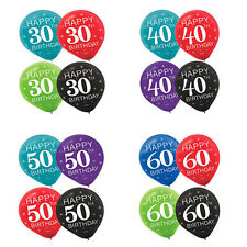 Celebration 30th 40th 50th 60th Birthday Party Supply Numeral Latex Balloons ~15