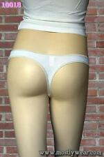 HOT KISS Glitter Foil Exotic White Cotton Sexy and Cute Thong Panties