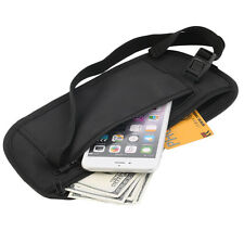 Travel Pouch Hidden Zippered Waist Compact Security Money Waist Belt Bag SL