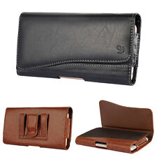 Horizontal Leather Case for Iphone 6 6s 7 Plus Carrying Pouch Belt Clip Holster