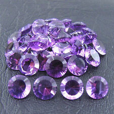 Natural Amethyst Concave Cut Round 4mm - 14mm Calibrated Sizes Loose Gemstone