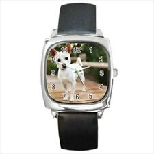 Chorkie Square Round & Square Leather Strap Watch - Dog Puppy