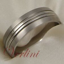 Titanium Ring Brushed Wedding Band 7mm Classic Dome Verlini Jewelry Size 6-13