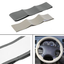 New Cool Leather DIY Car Steering Wheel Cover With Needles and Thread SL