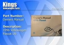 Volkswagen 1996 Passat Owners Manual.  New, Shows Some Age.  Manual Only