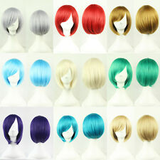 New Fashion Short Wig Anime Cosplay Party Straight Hair Cosplay Full Wigs