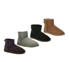 New Ozwear UGG Classic Sheepskin Mini Boots Chestnut Chocolate Black Charcoal
