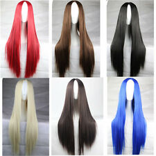 Natural  long straight Hair wig carve women party synthetic cosplay