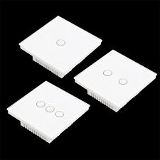 Crystal Glass Panel Touch Light Wall Switch 1/2/3 Gang With Remote Controller QT