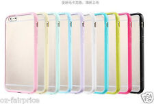 iPhone SE/5/6/7/S/Plus TPU Soft Rubber Bumper Matte Hard Back Case Cover