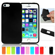 New Silicone Rubber Gel Case Cover Skin For Apple iPhone 5 5S SE Screen Film