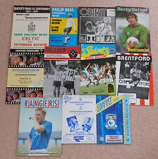 Tottenham testimonial and friendly programmes 1967 to 1992